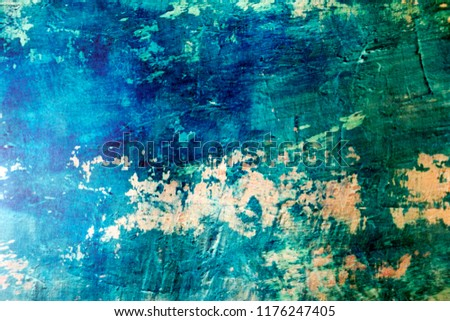 Blue Navy Blue Dark Abstract Background Grunge Decorative Stucco Wall of Art Rough. Texture Banner With Space Text. #1176247405