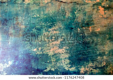 Blue Navy Blue Dark Abstract Background Grunge Decorative Stucco Wall of Art Rough. Texture Banner With Space Text. #1176247408