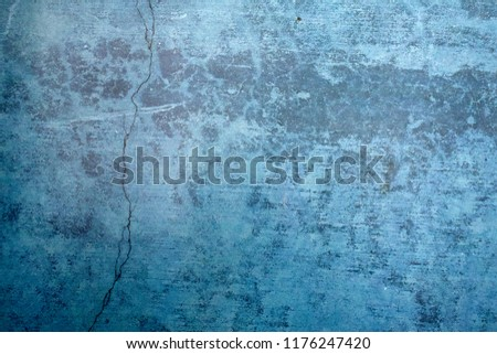 Blue Navy Blue Dark Abstract Background Grunge Decorative Stucco Wall of Art Rough. Texture Banner With Space Text. #1176247420