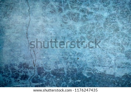 Blue Navy Blue Dark Abstract Background Grunge Decorative Stucco Wall of Art Rough. Texture Banner With Space Text. #1176247435