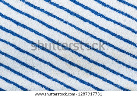 Blue Navy Seal Colored Striped Fabric Knit Cloth Texture. Abstract Close up Line Pattern Background #1287917731