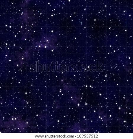 blue nebula sky with stars