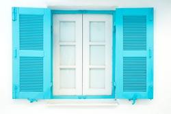 blue nice lovely window in greece
