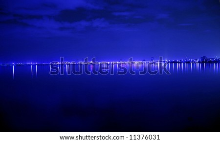 Blue night light  for background decoration