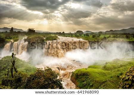 Blue Nile Falls, Tis Issat, Ethiopia, Africa Stok fotoğraf ©