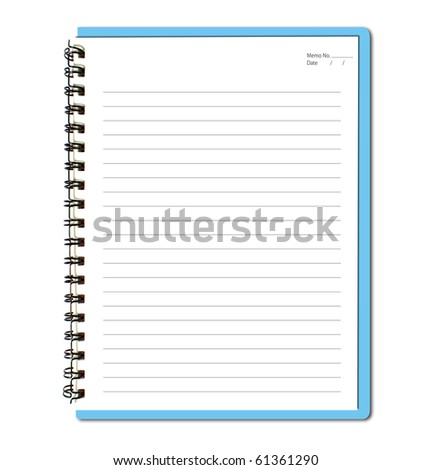 Blue notebook (blank paper)