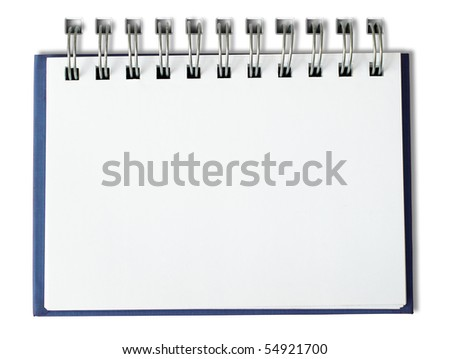 Blue Notebook horizontal single page