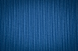 blue nylon fabric texture. coarse canvas background - closeup pattern