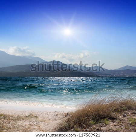 blue ocean on a summer day