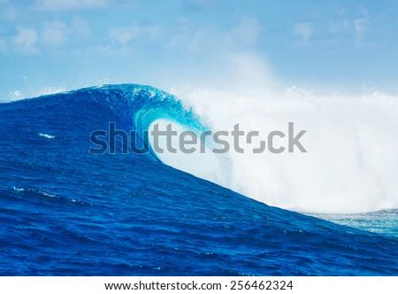 Stock Photo Blue Ocean Wave, Epic Surf