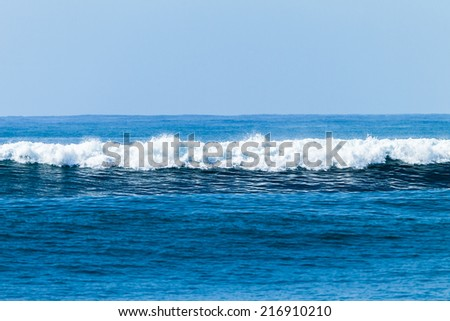 Blue Ocean White Water Swells ocean wave swells white water glass smooth water heading towards beach shallows