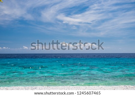 Blue Ocean with Blue sky and cloud #1245607465