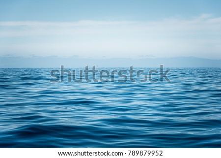 blue ocean with waves near Tenerife #789879952