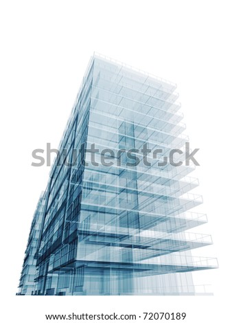 Blue office building