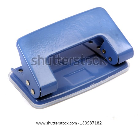 Blue office puncher