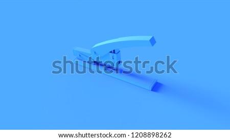 Blue Office Stapler 3d illustration 3d render