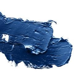 blue  oil paint on a palette