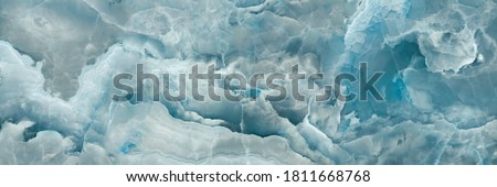 Blue onyx marble texture, abstract background Foto stock ©