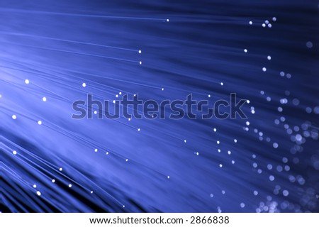 Fibre Optic Ethernet on Fiber Optic A Blue Ethernet Cable Isolated Find Similar Images