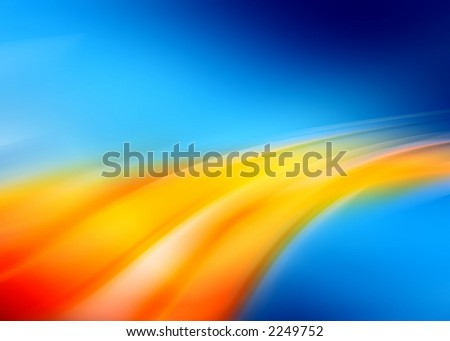 blue orange abstract composition