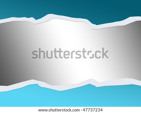 Blue over chrome background, Space to insert text or desgn