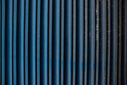 Blue painted corrugated metal texture