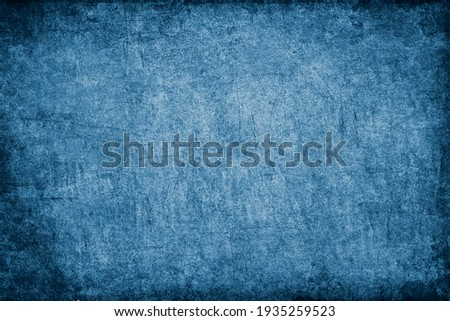 Blue painted grunge texture background