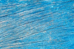 Blue painted rustic wooden boat deck, Boracay Island, Philippines