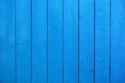 Blue Painted Wood Planks as Background or Texture, Natural Pattern