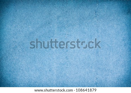 Blue paper texture with gradient