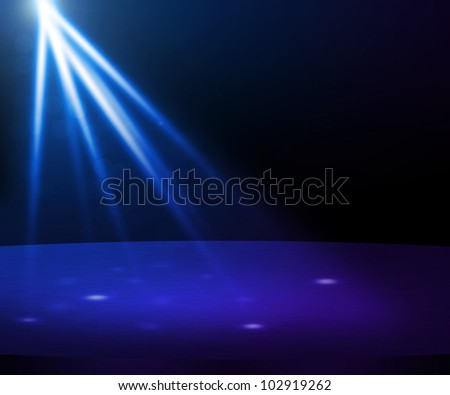 Blue Party Spotlight Stage