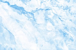 Blue pastel marble floor texture background with high resolution, counter top view of natural tiles stone in seamless glitter pattern and luxurious.