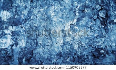 Blue patterned wall background.