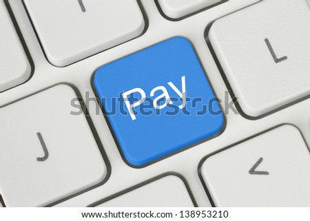 Blue pay keyboard button