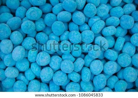 blue pebble lolly candy sweet bon bons