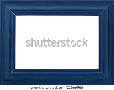 Blue photo frame (with empty space for text, photo or picture)
