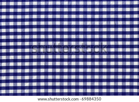 blue plaid tablecloth