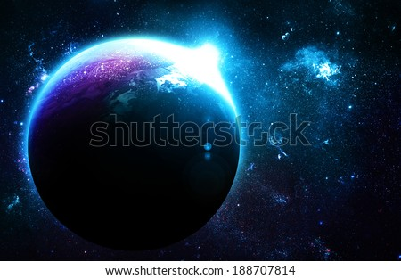 Blue Planet at Sunrise - Elements of this Image Furnished By NASA