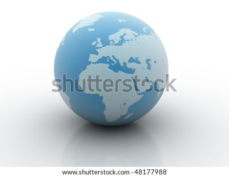Blue planet - 3d world globe
