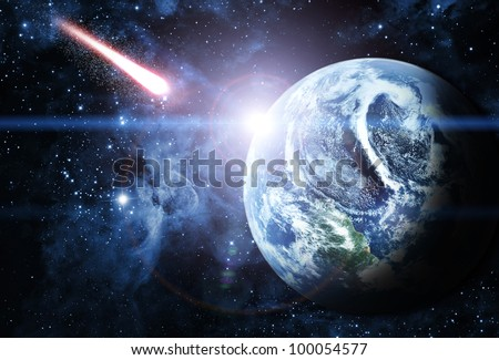 blue planet in beautiful space Elements of this image furnished by NASA