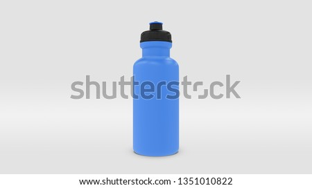Blue Plastic Squeeze Bottle for Souvenir and Product Mockup Isolated on Studio or Infinite Background (3D rendering)  Stockfoto ©
