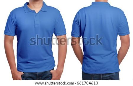 blue polo t shirt mock up ...