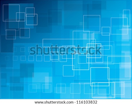 Blue polygonal futuristic abstract background