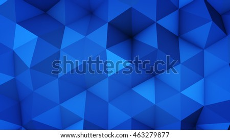 Shutterstock Blue polygonal geometric surface. Computer generated abstract background. 3D rendering