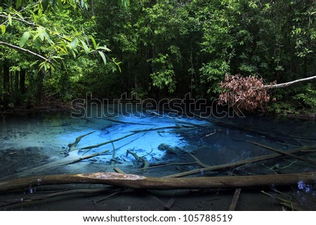 Blue Pool at Krabi, Southern of Thailand