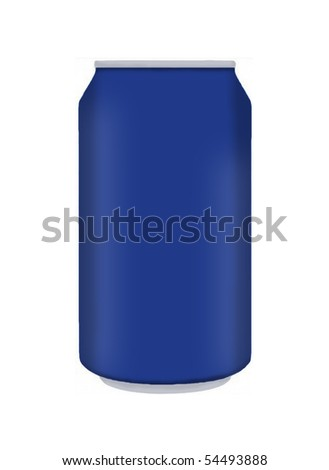 Blue pop can