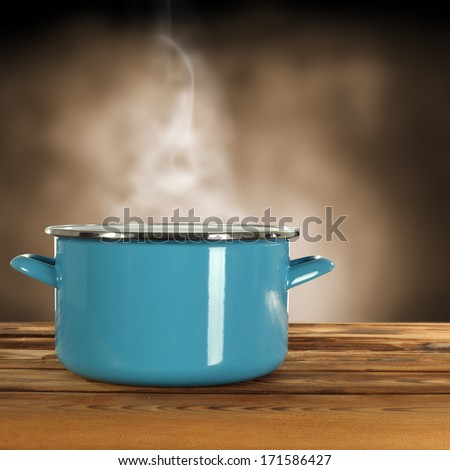blue pot and smoke