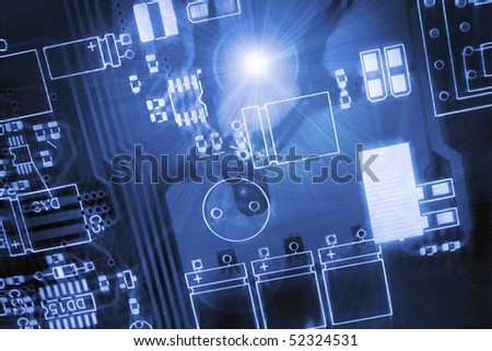 Blue printed-circuit board for electronic components