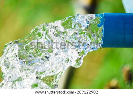 Blue pump pipe water flow equipment agriculture