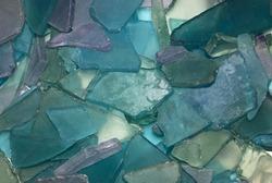blue purple beach glass